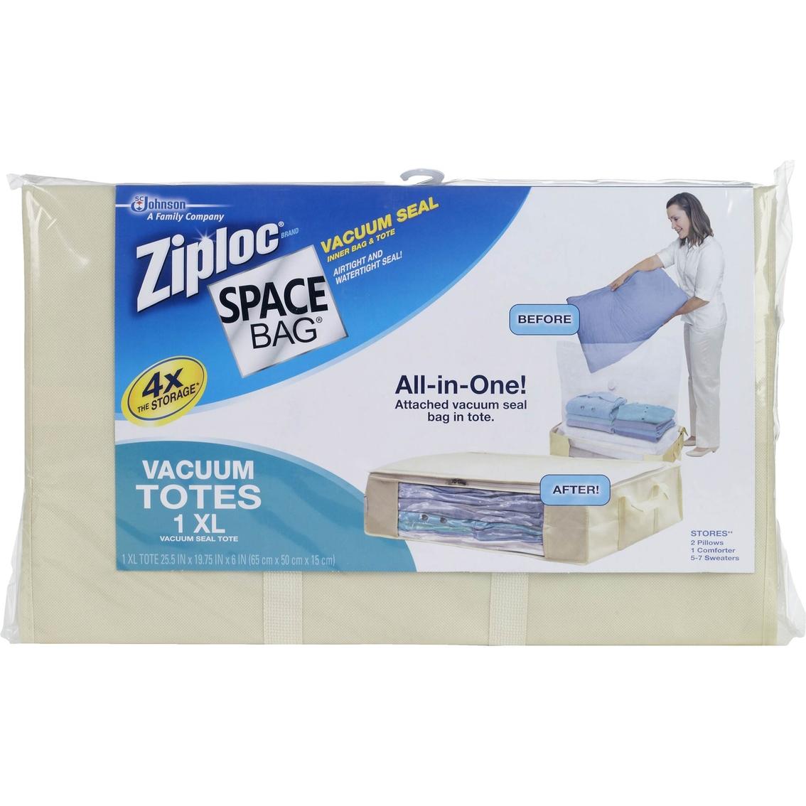 ziploc space bag extra large vacuum tote closet organization home appliances shop the. Black Bedroom Furniture Sets. Home Design Ideas