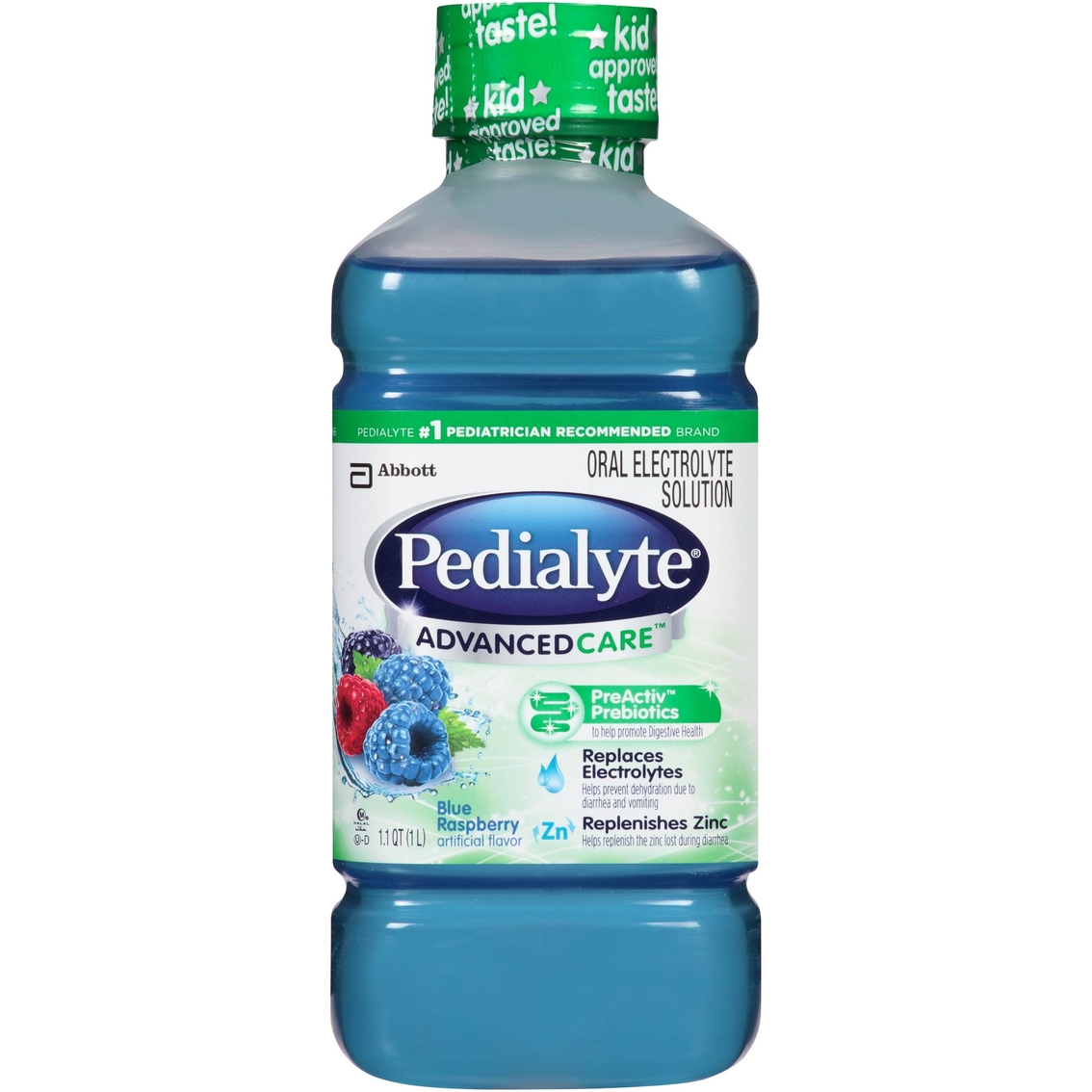 Pedialyte Advanced Care Blue Raspberry 1.1 Qt. | Baby Food & Formula ...