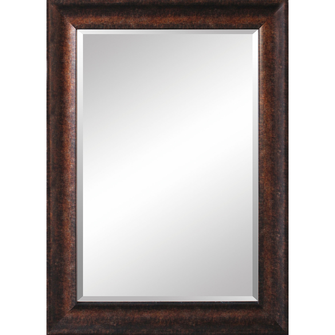 Simply Perfect 24 X 36 In Framed Mirror Brown