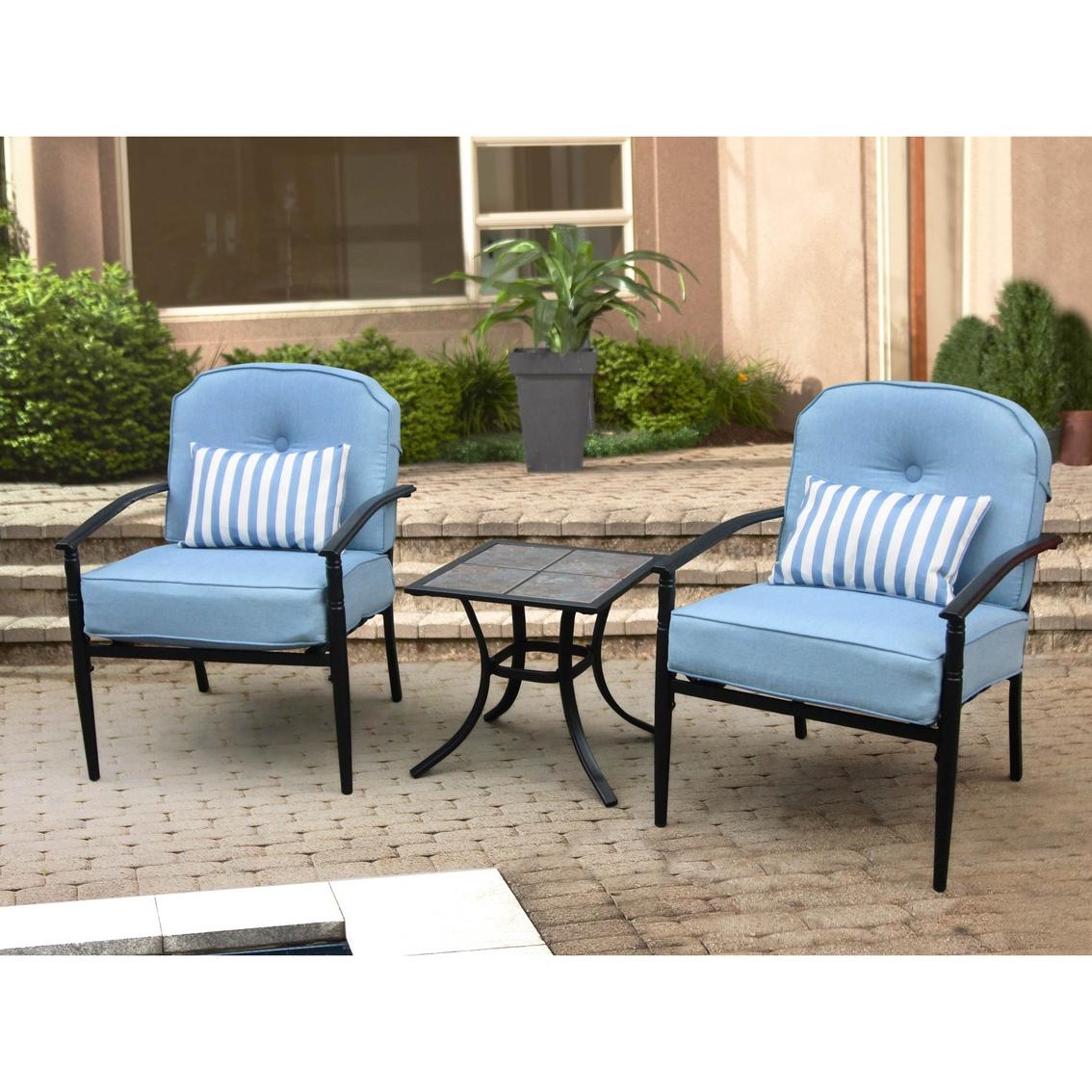 Courtyard Creations Joliet 3 Pc Cushioned Bistro Set