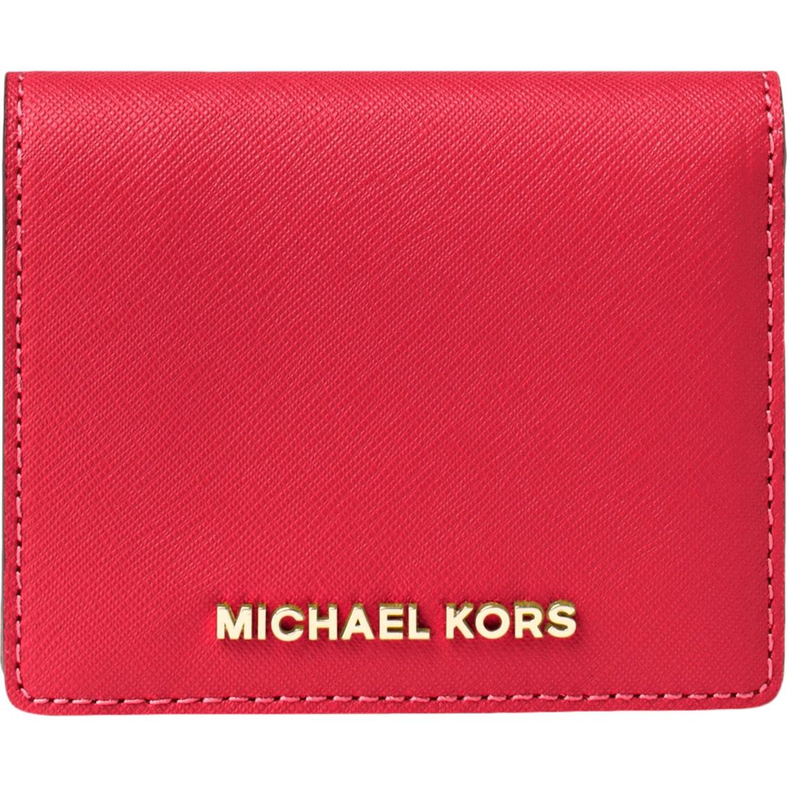 8b05056e832f Michael Kors Jet Set Travel Saffiano Leather Card Holder ...