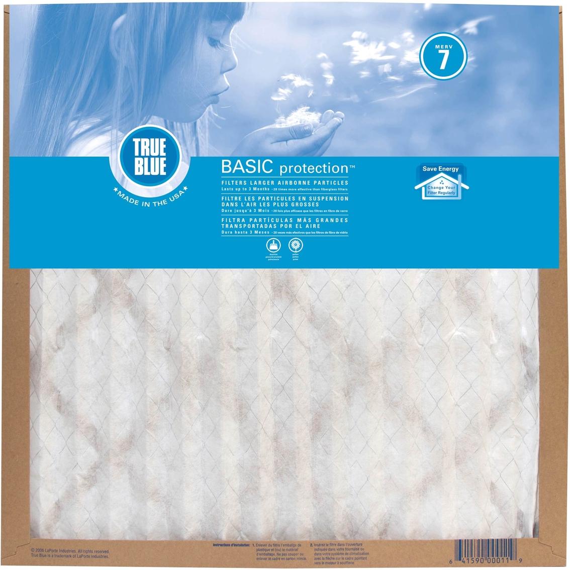 Protect plus true blue basic merv 7 pleated 90 day air filter 20 x protect plus true blue basic merv 7 pleated 90 day air filter 20 x 20 x 1 malvernweather Gallery