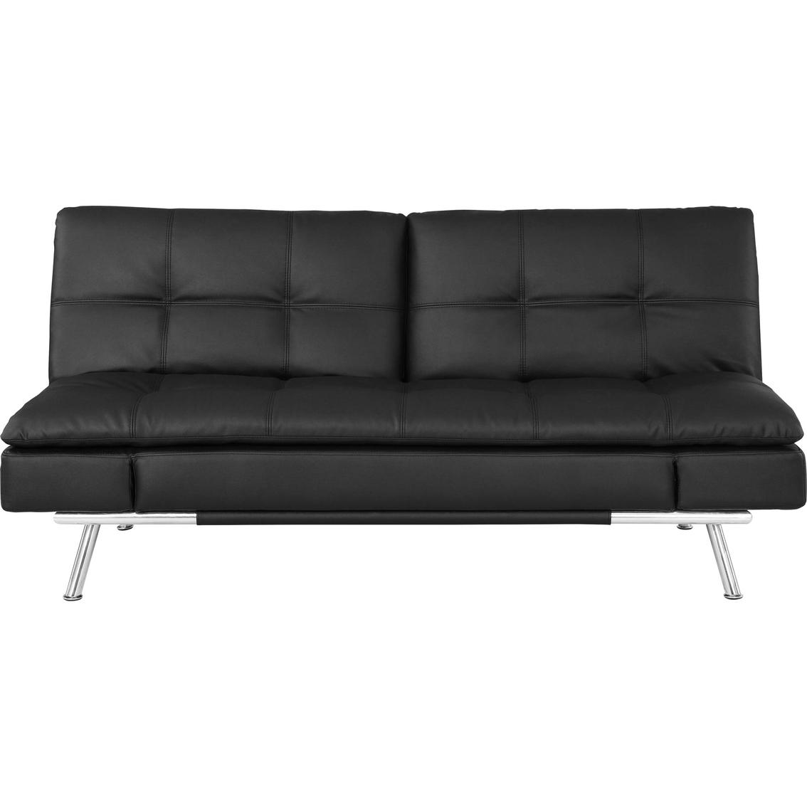 serta matrix convertible leather sleeper sofa black