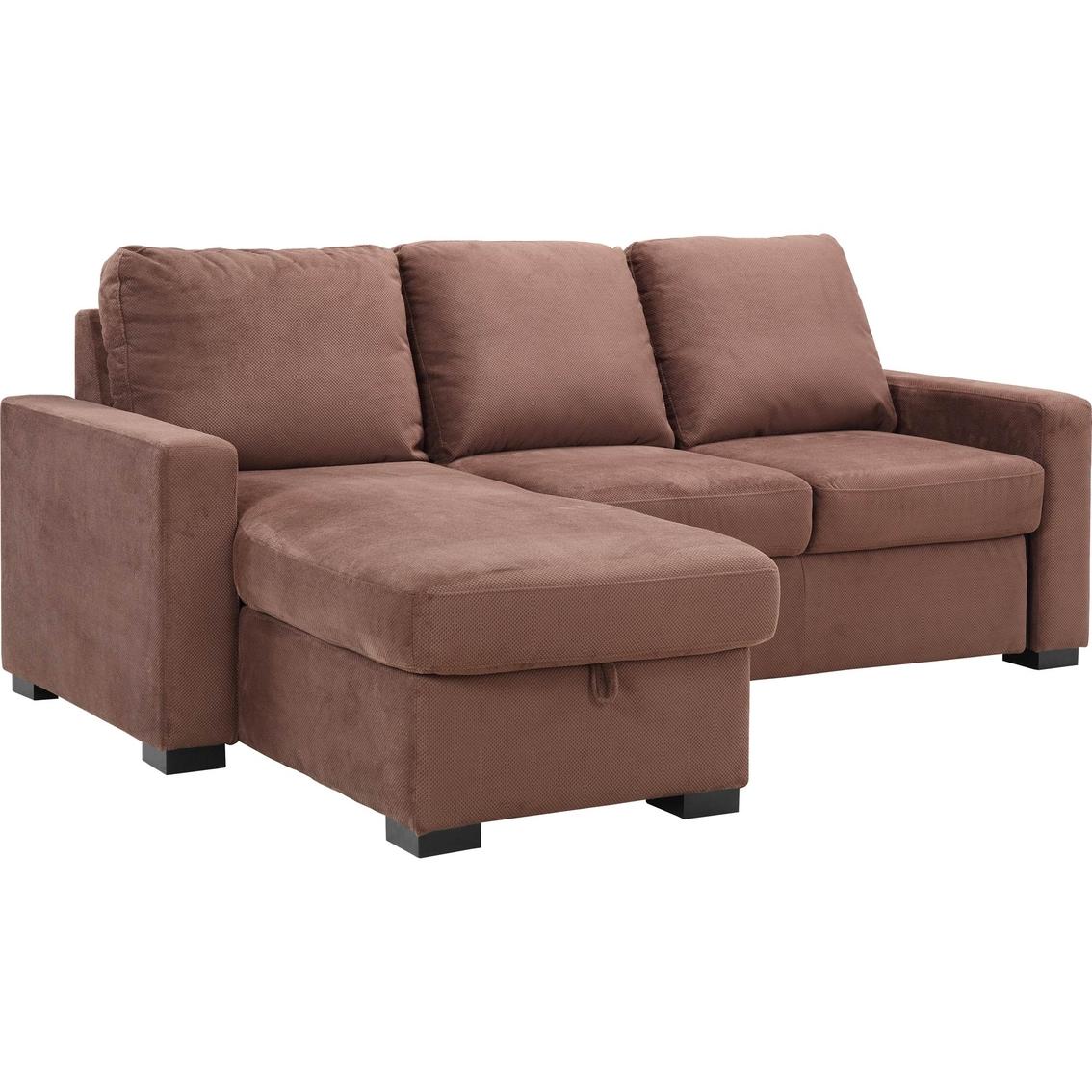 Serta Chester Convertible Sleeper Chaise Sofa Serta