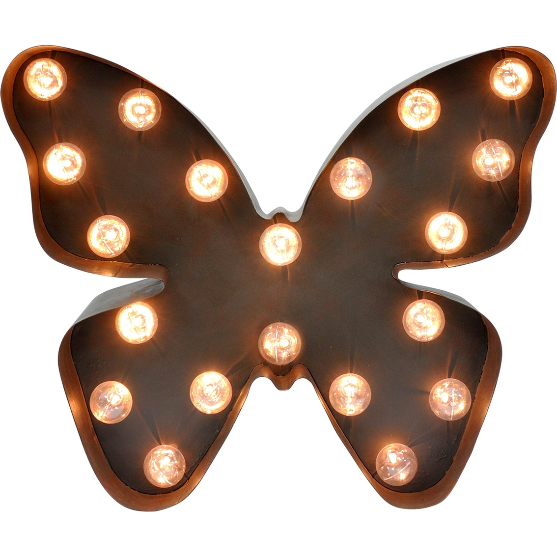 In My Garden Metal Lighted Butterfly Marquee Sign | Lighting | More ...