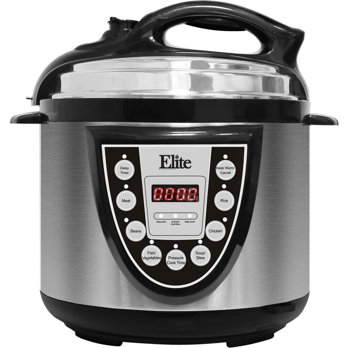 Elite Stainless Steel 4 Qt  Digital Pressure Cooker