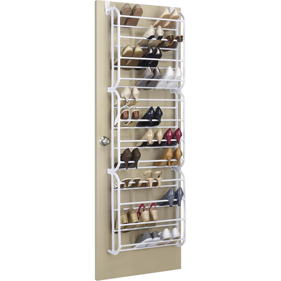 Behind Door Shoe Storage.Whitmor Over The Door Shoe Rack Closet Organization Home