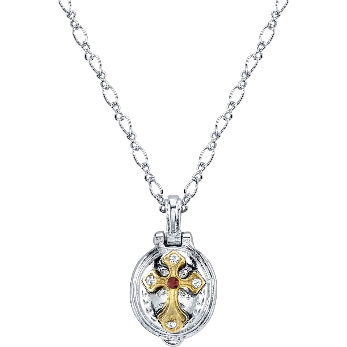 Symbols Of Faith Two Tone St Jude Lift Up 20 In Necklace