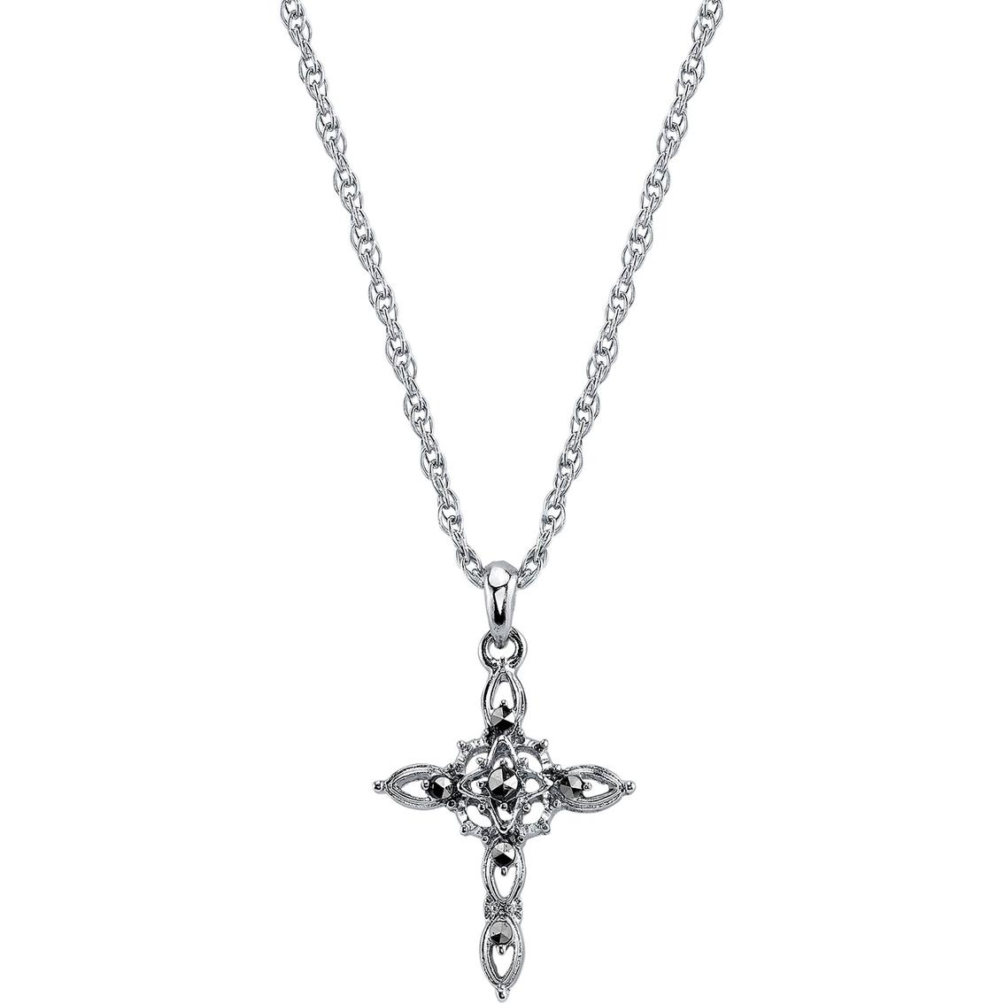 Symbols of faith silvertone imitation marcasite cross pendant symbols of faith silvertone imitation marcasite cross pendant biocorpaavc Images