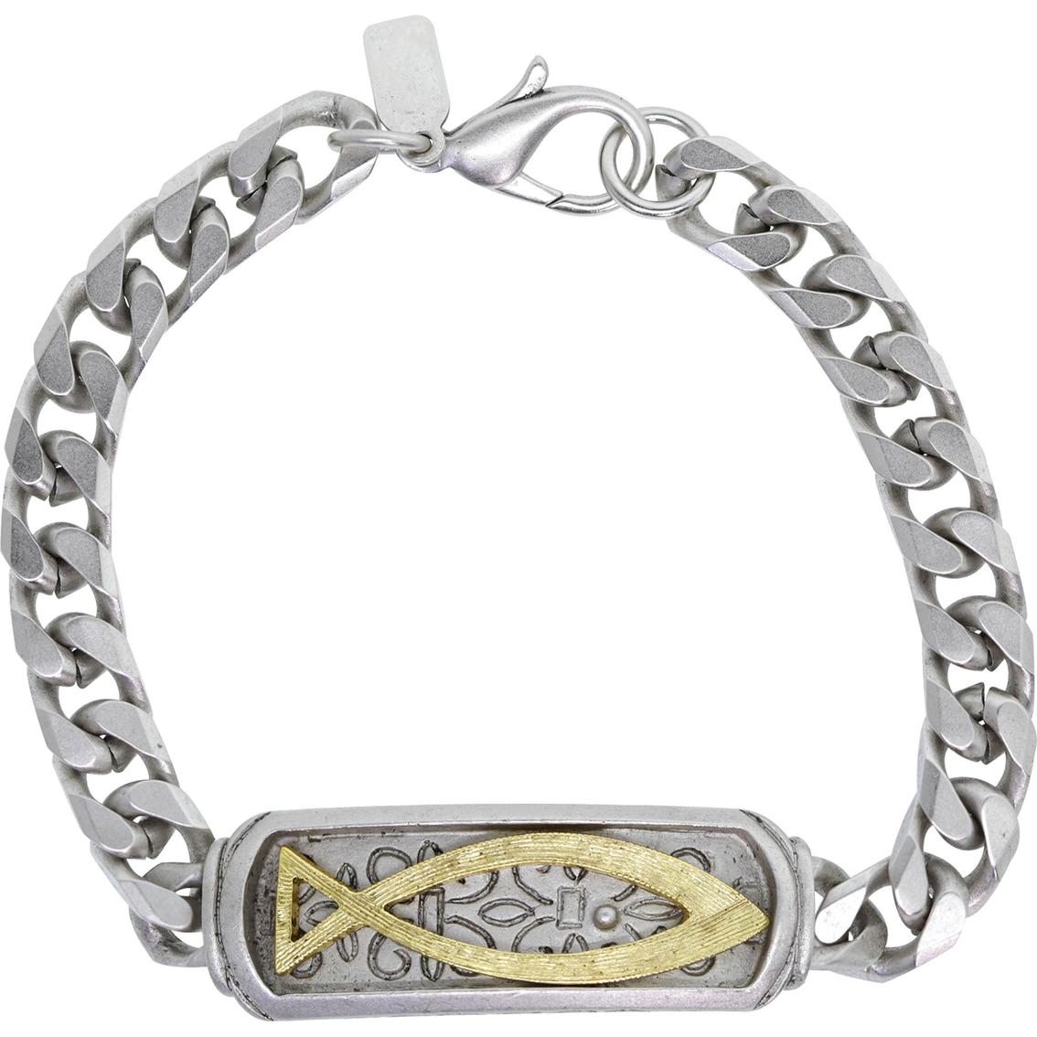 Symbols of faith two tone ichthus fish bracelet fashion symbols of faith two tone ichthus fish bracelet biocorpaavc Images