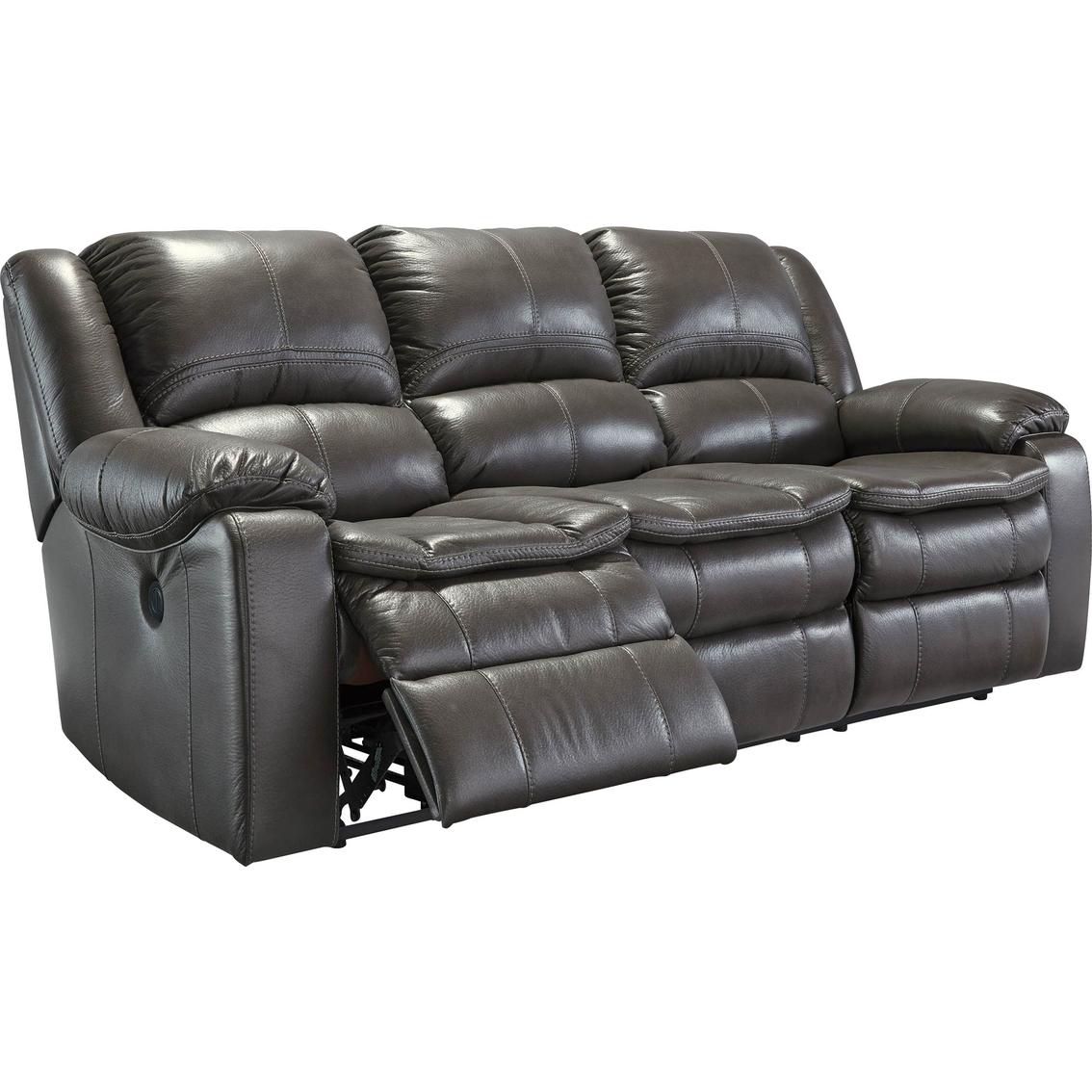 Ashley Longknight Double Reclining Sofa Gray Sofas