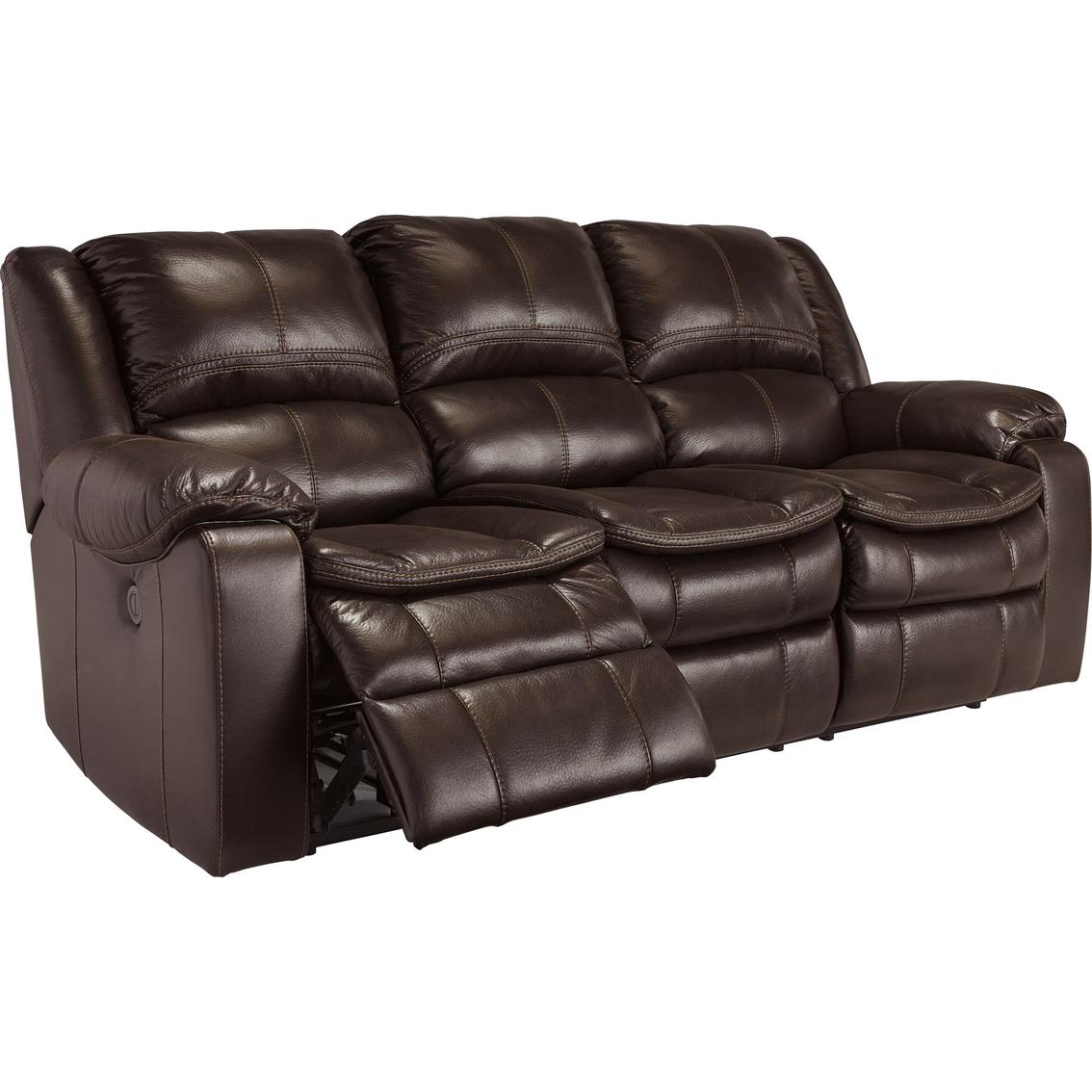 Ashley Longknight Double Reclining Sofa Brown Sofas