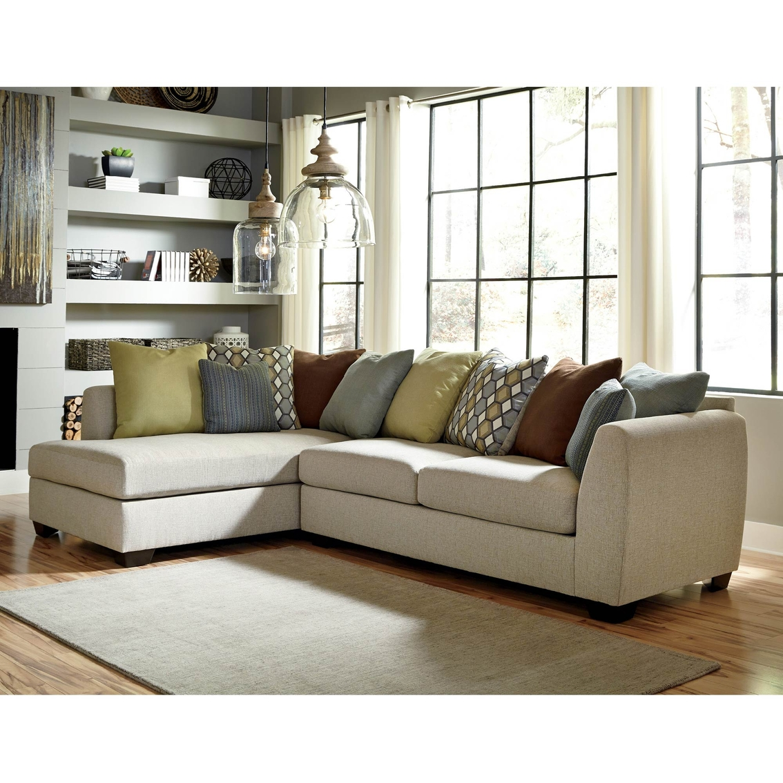 Benchcraft casheral 2 pc sectional raf sofa laf corner for Benchcraft chaise lounge