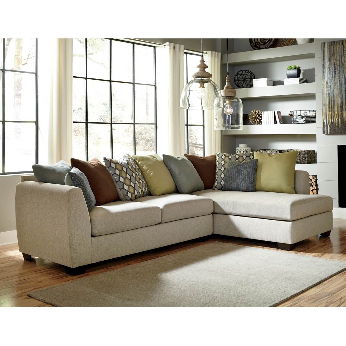 Benchcraft Casheral 2 Pc Sectional Laf Sofa Raf Corner