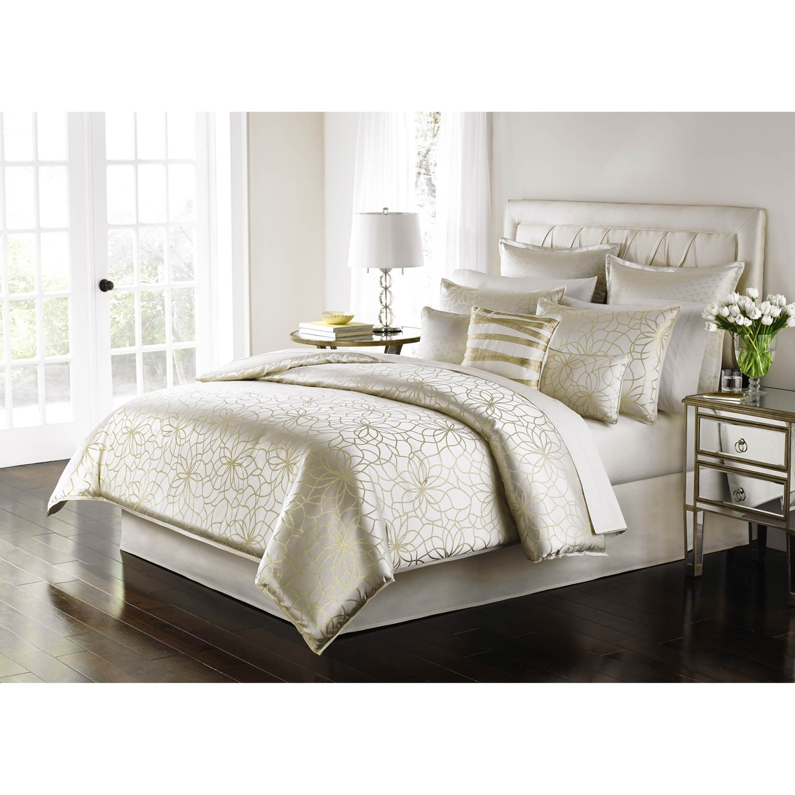 martha stewart collection radiant day 9 pc comforter set bedding collections back to school. Black Bedroom Furniture Sets. Home Design Ideas
