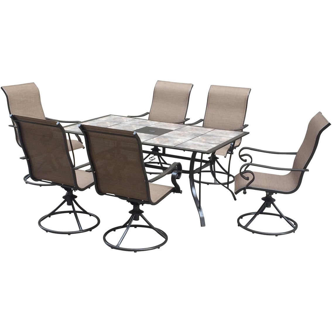 Courtyard Creations Lakeside 7 Pc Dining Set Patio Sets