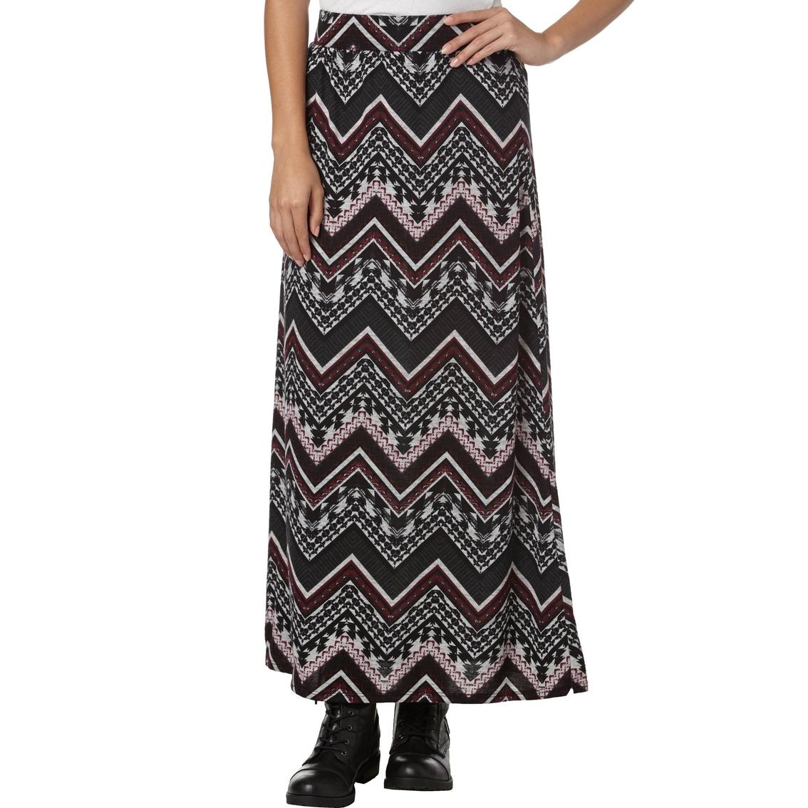 joe b juniors print hacci maxi skirt skirts apparel