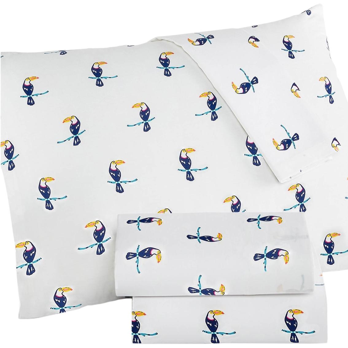Martha Stewart Whim Collection Toucan Print 200 Thread Count Percale