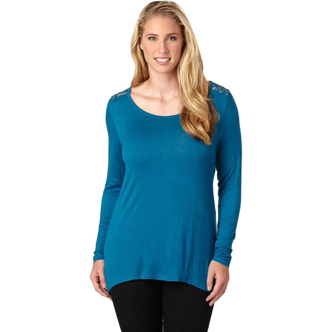 Savante Apparel Plus Size Splash Crochet Lace Top Tops