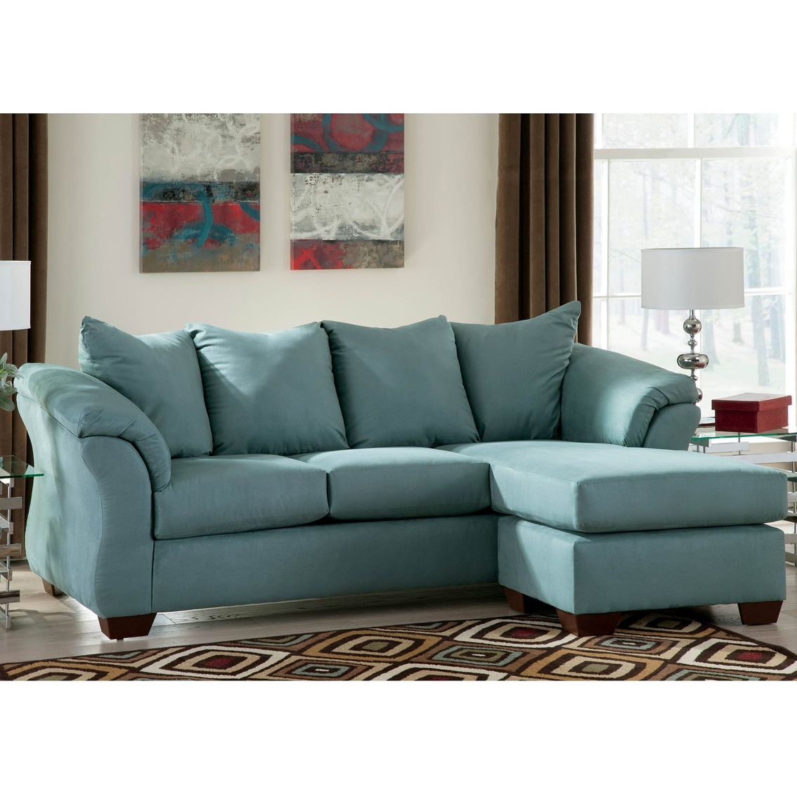 Signature Design By Ashley Darcy Sofa Chaise Sky