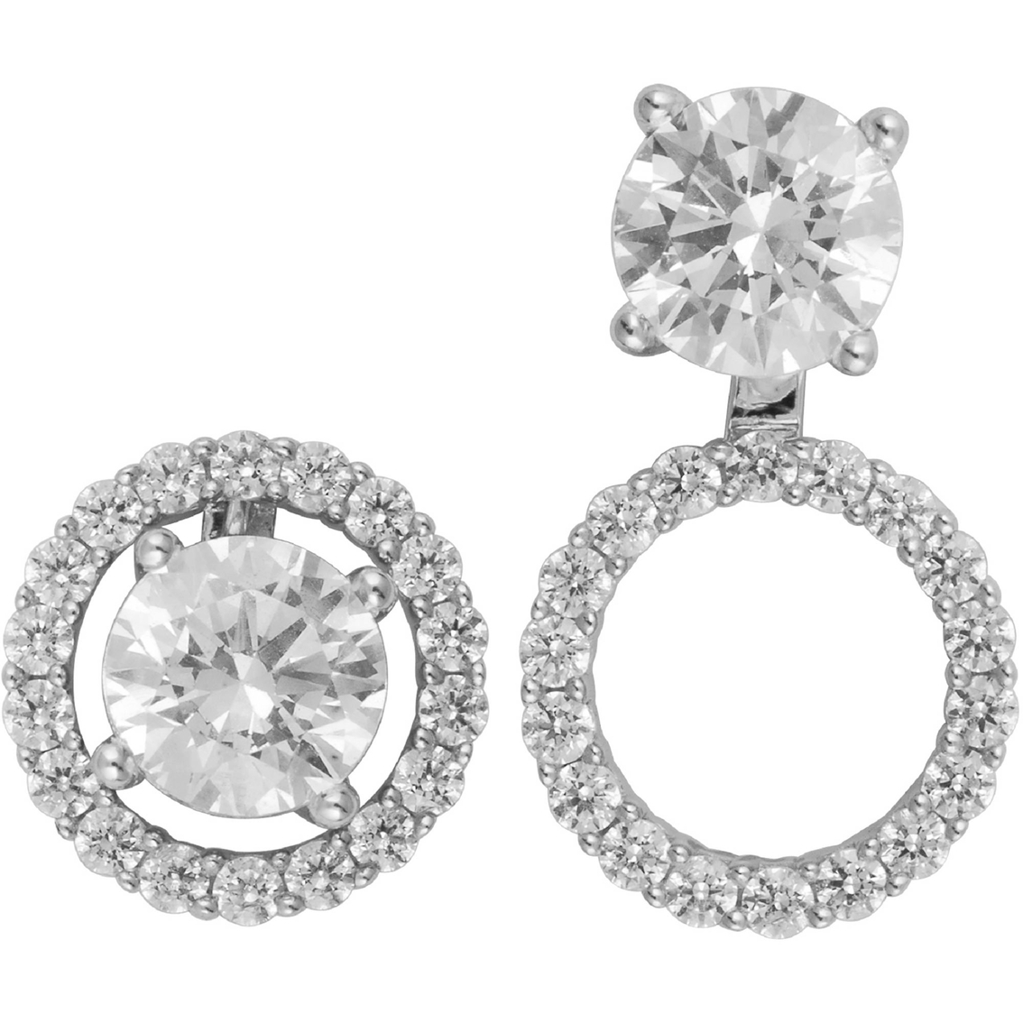 14k White Gold 1 2 Ctw Diamond Convertible Earring Jackets
