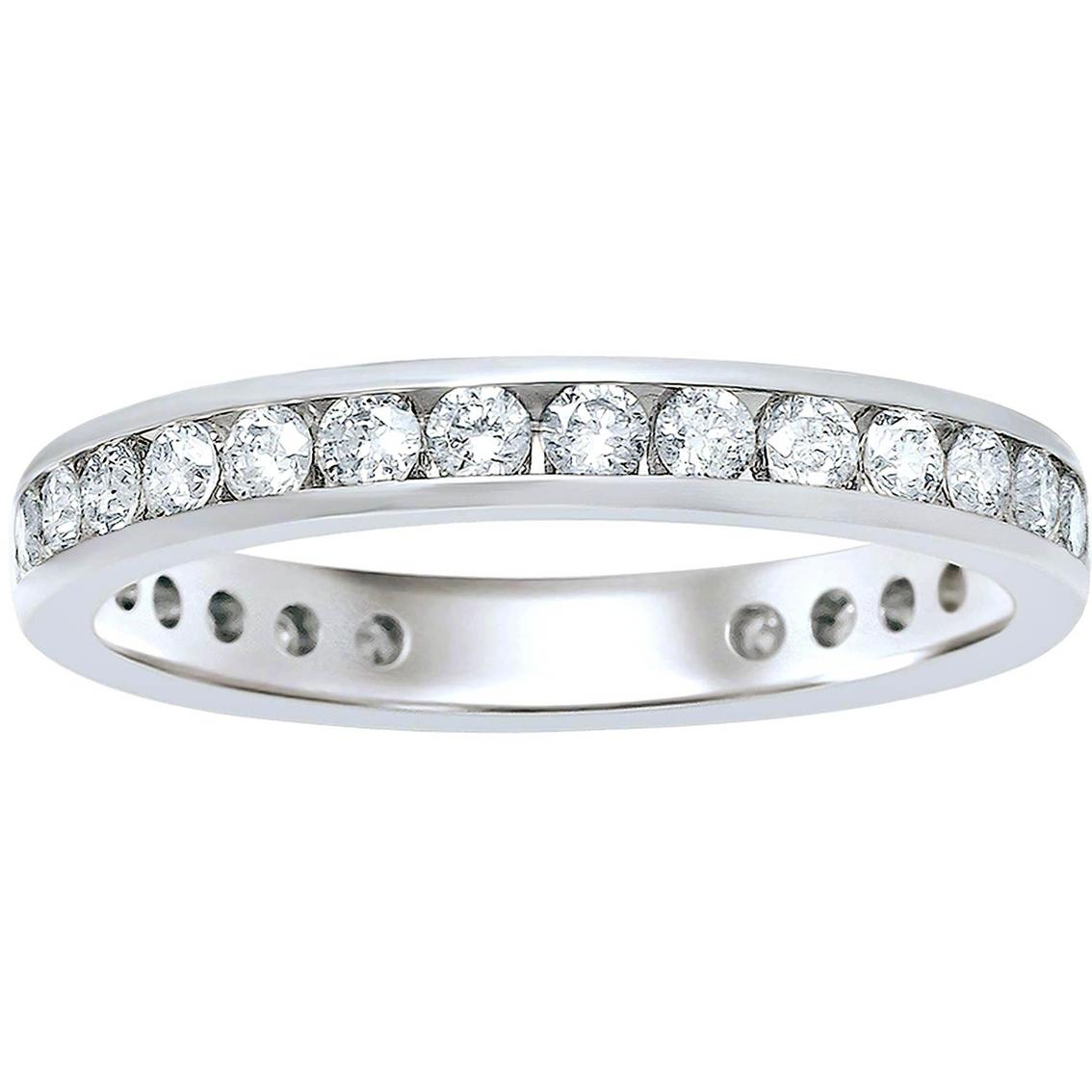 8001e516eb558 14k White Gold 1 Ctw Diamond Eternity Band | Wedding Bands | Jewelry ...