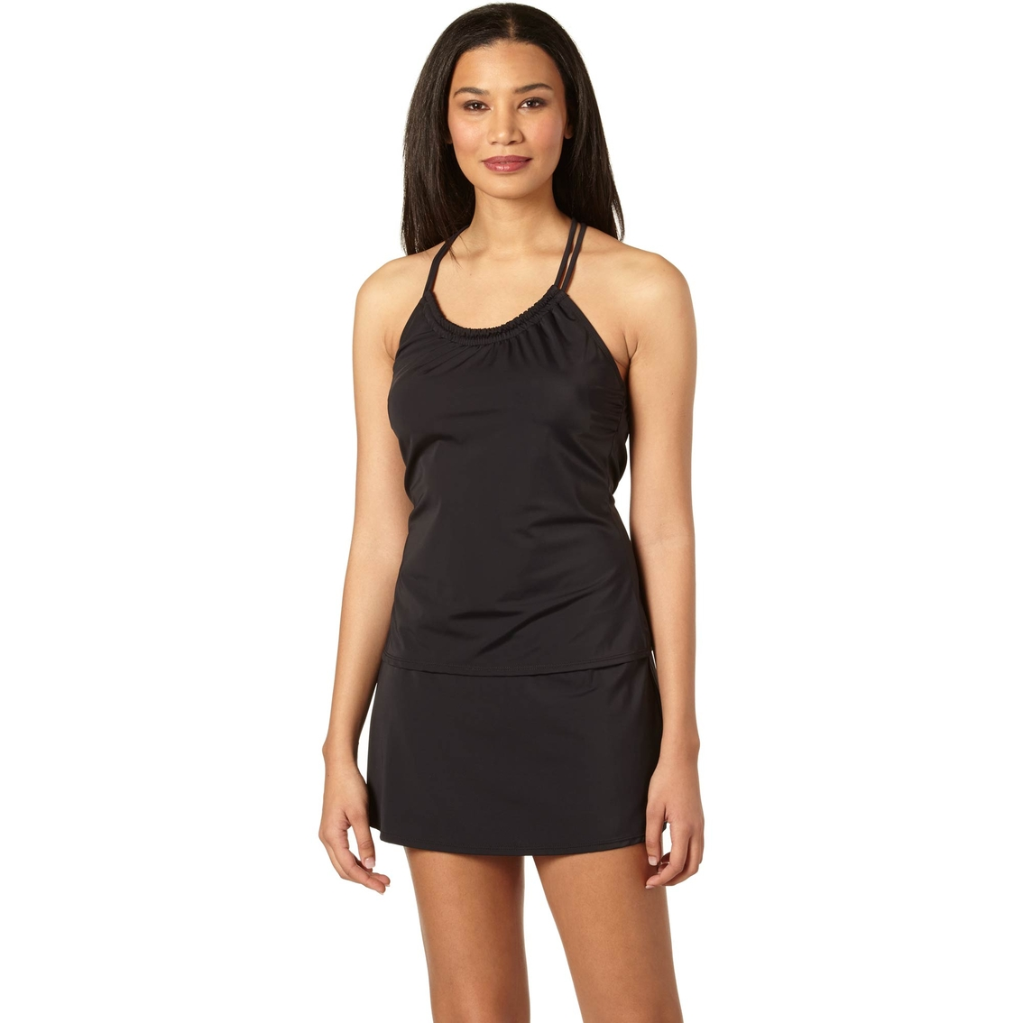 jantzen solid tankini with skirt s clearance