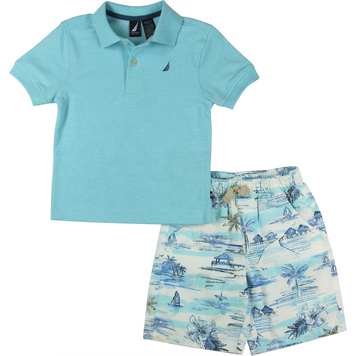 2f0c4aac4 Nautica Toddler Boy 2 Pc. Short Sleeve Woven Short Set