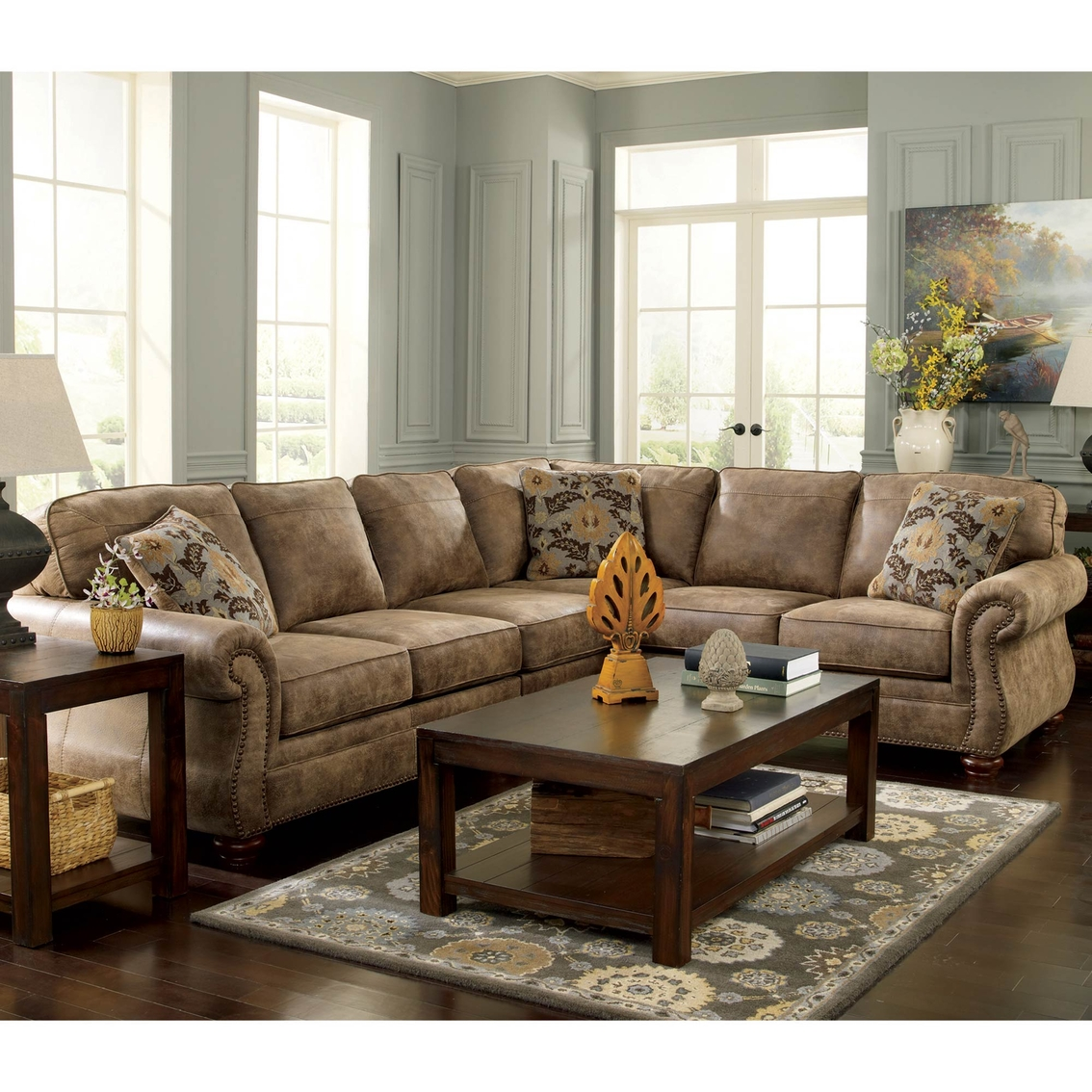 Ashley Sofas Prices: Signature Design By Ashley Larkinhurst 3 Pc. Sectional Laf