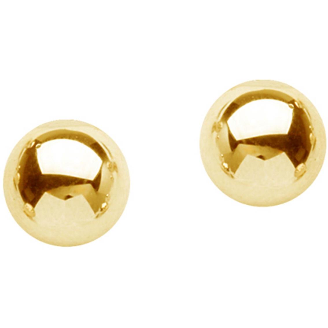 14K Yellow Gold 4mm Ball Earrings