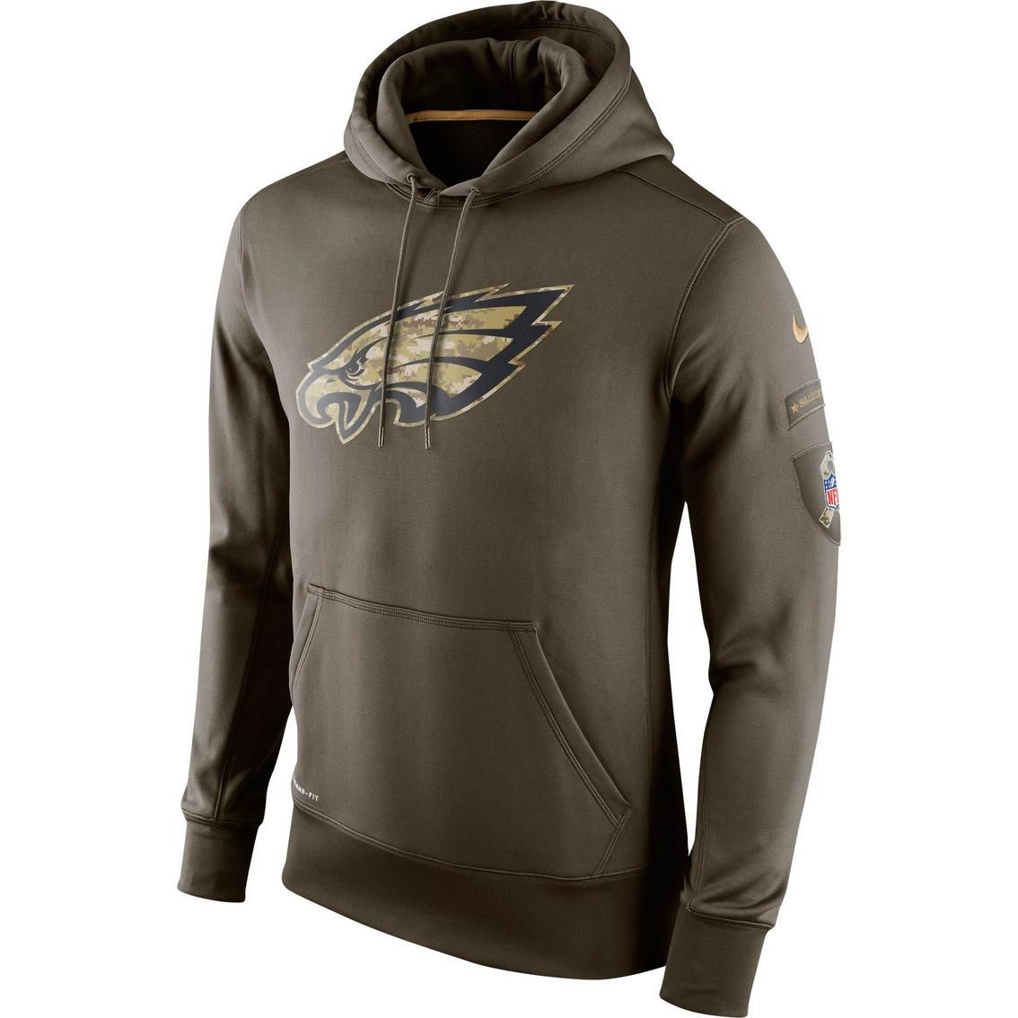sale retailer a1cf2 00023 Nike Nfl Philadelphia Eagles Salute To Service Ko Hoodie ...