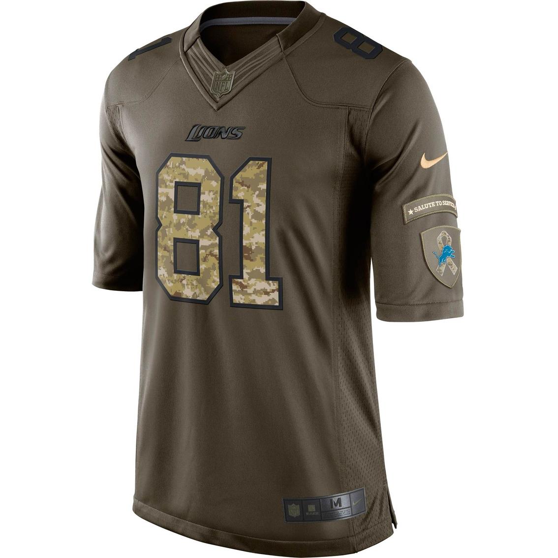 wholesale dealer c8b59 f130c Nike Nfl Detroit Lions Calvin Johnson Salute To Service ...