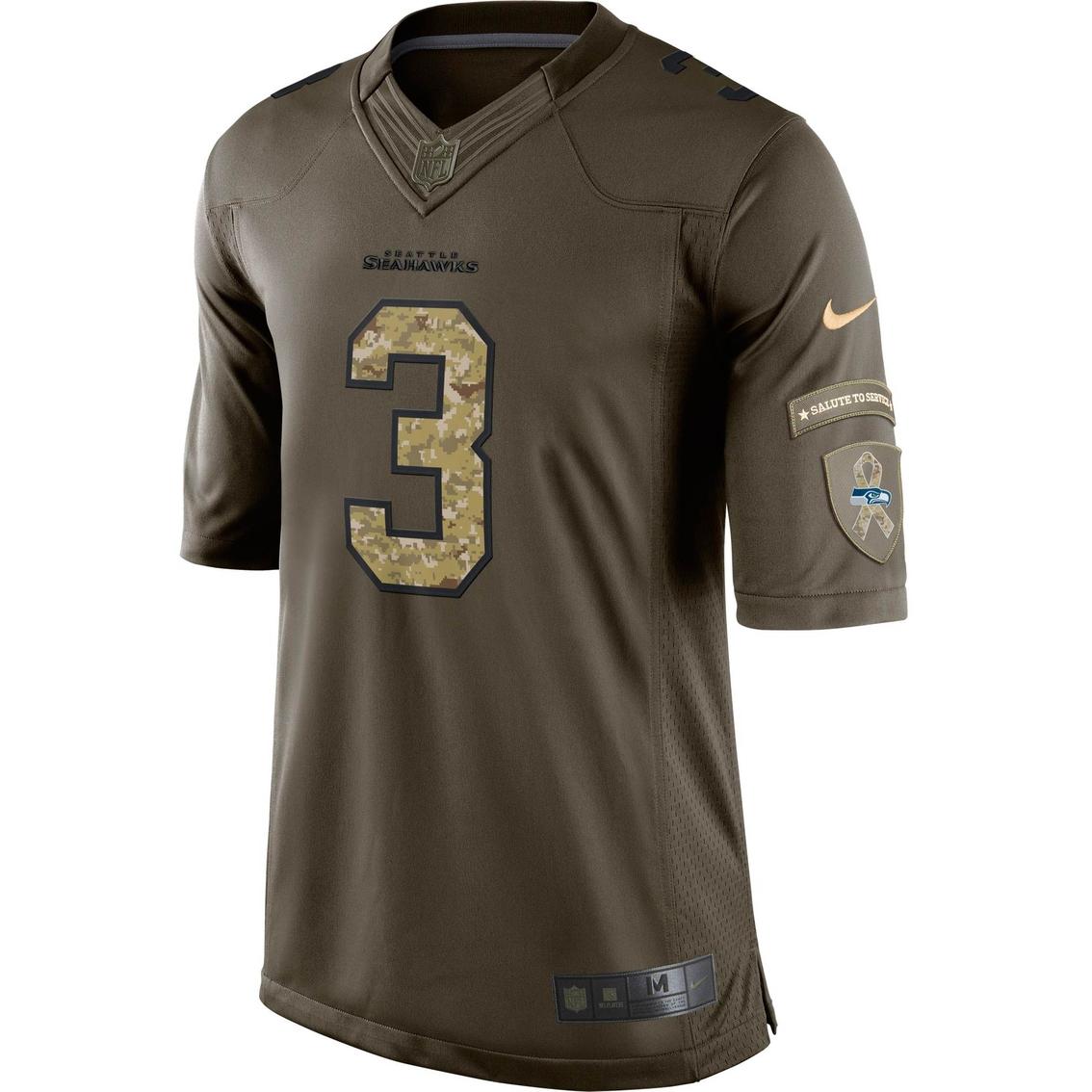 Nike Nfl Seattle Seahawks Men's Russell Wilson Salute To Service ...