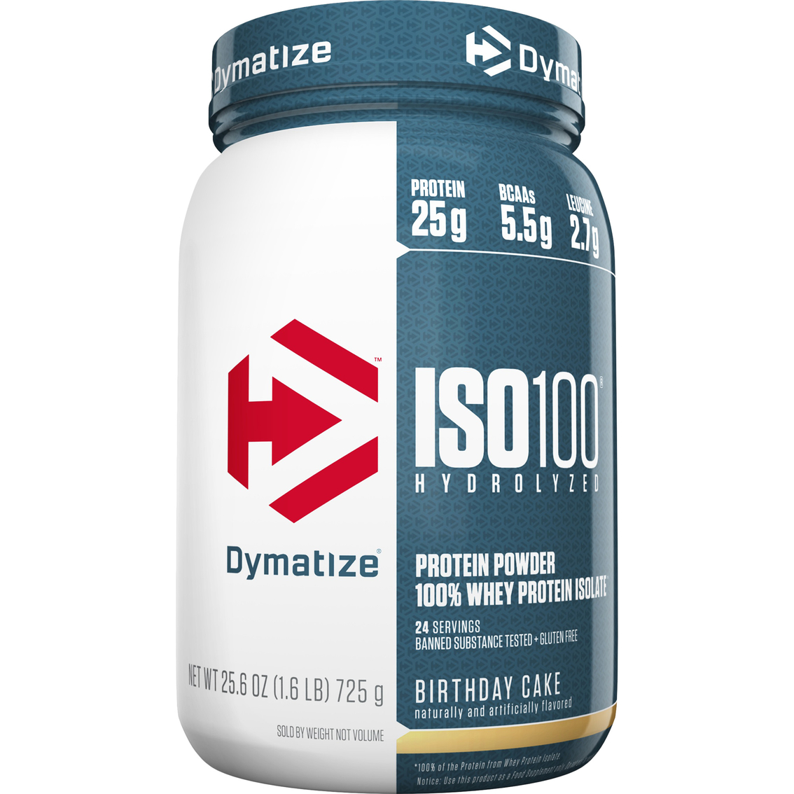 Dymatize ISO 100 Hydrolyzed Whey Protein Birthday Cake