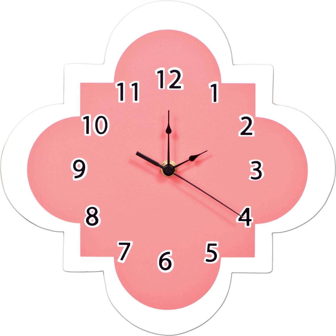 Trend Lab Coral Quatrefoil Wall Clock Wall Decor Baby