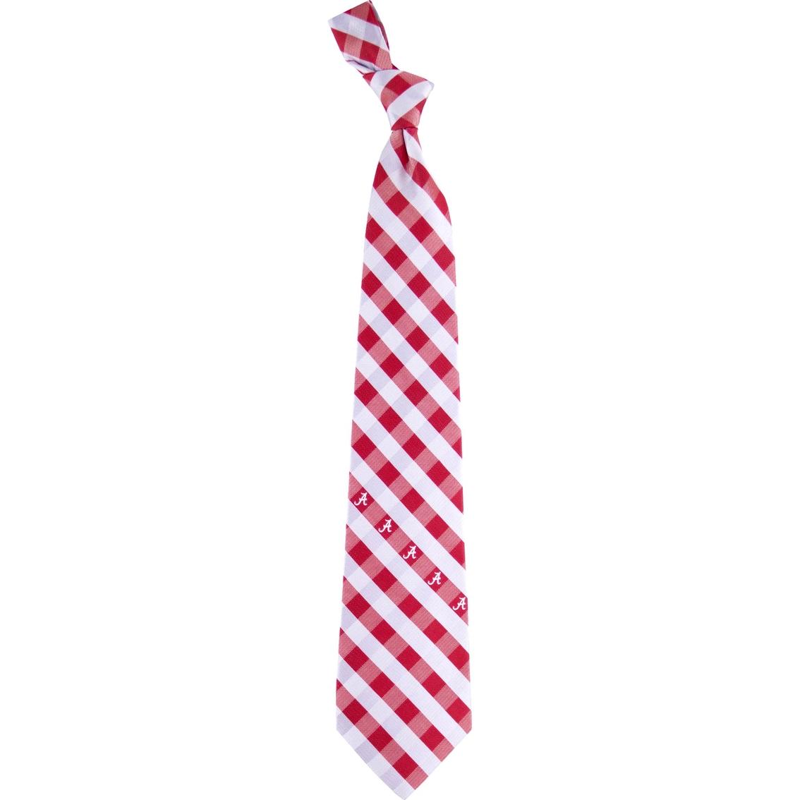 Eagles Wings Ncaa Alabama Crimson Tide Woven Check Tie