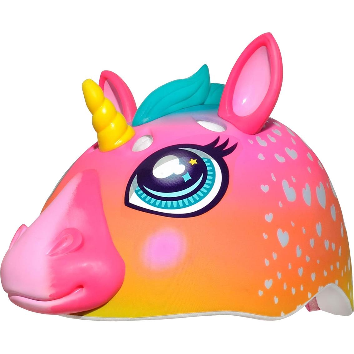 C Preme Raskullz Super Rainbow Unicorn Hair Dark Pink 3d Bike Helmet