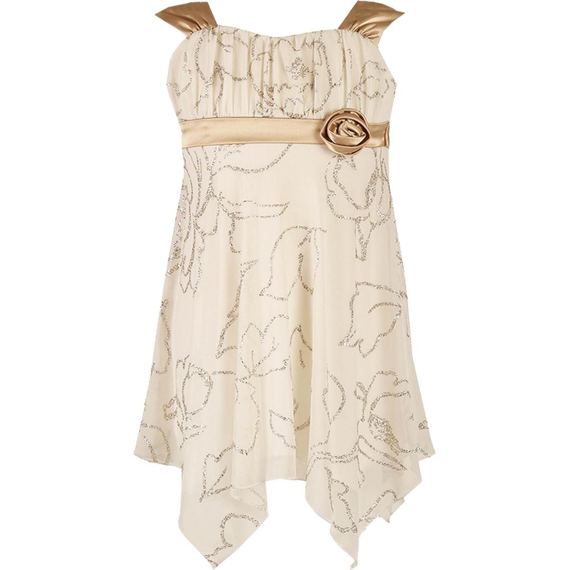 Speechless Little Girls Emma Hanky Hem Dress 4 6x Apparel