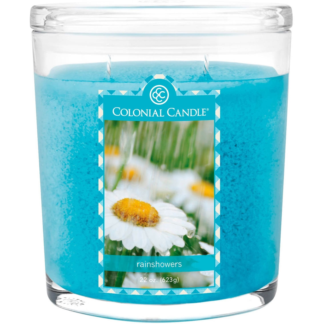 colonial candle rainshowers 22 oz  candle