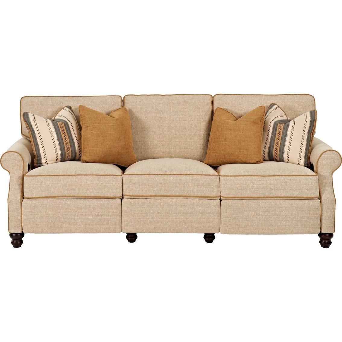 Klaussner trisha yearwood tifton reclining sofa sofas for Factory sofas