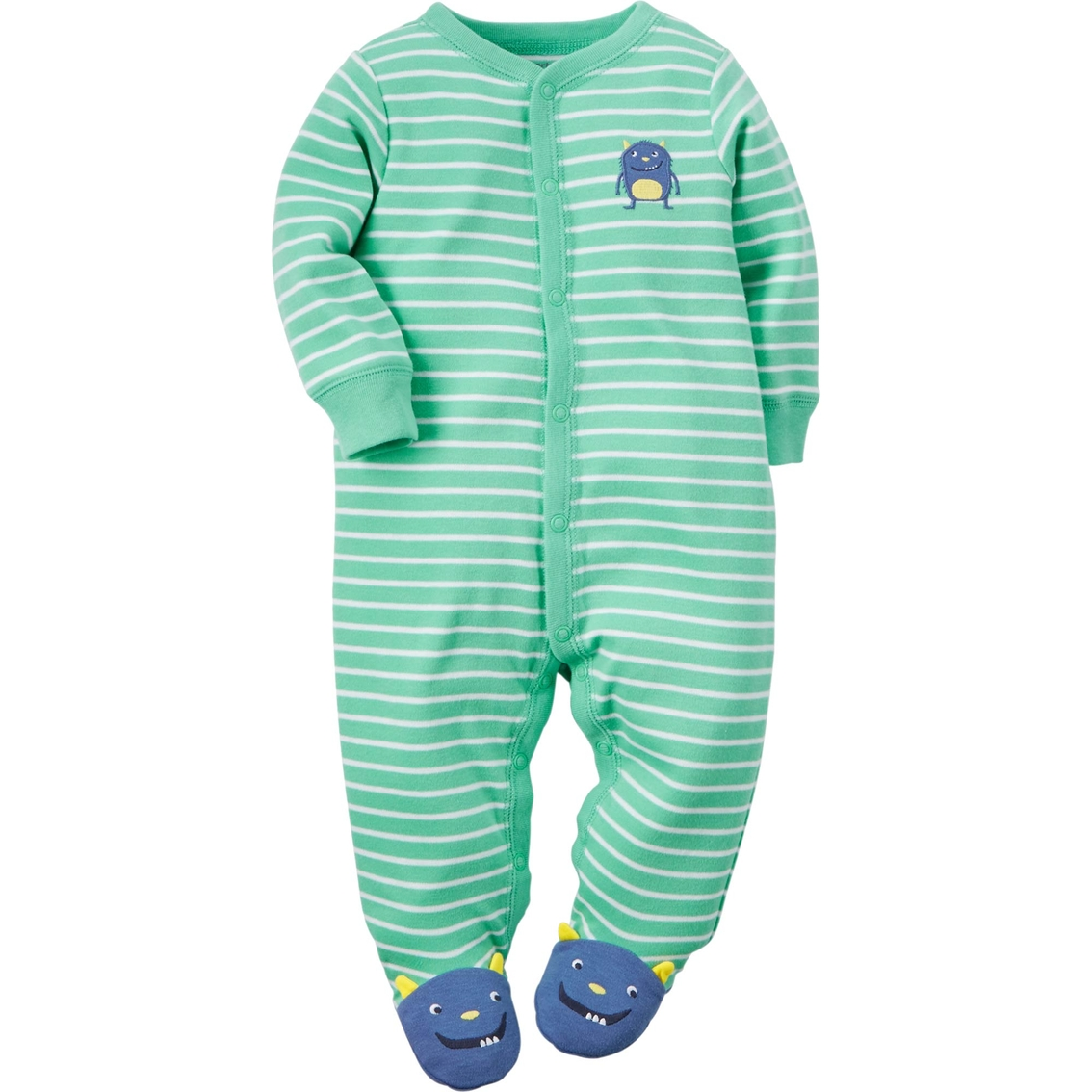 4a96cee10 Carter s Infant Boys Turquoise Monster Sleep And Play