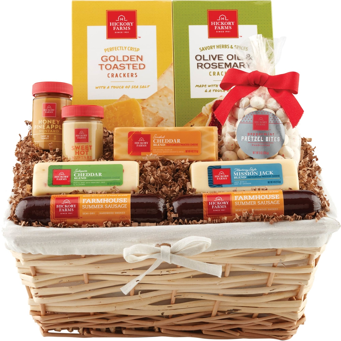 Hickory Farms Family Celebration Deluxe Gift Basket