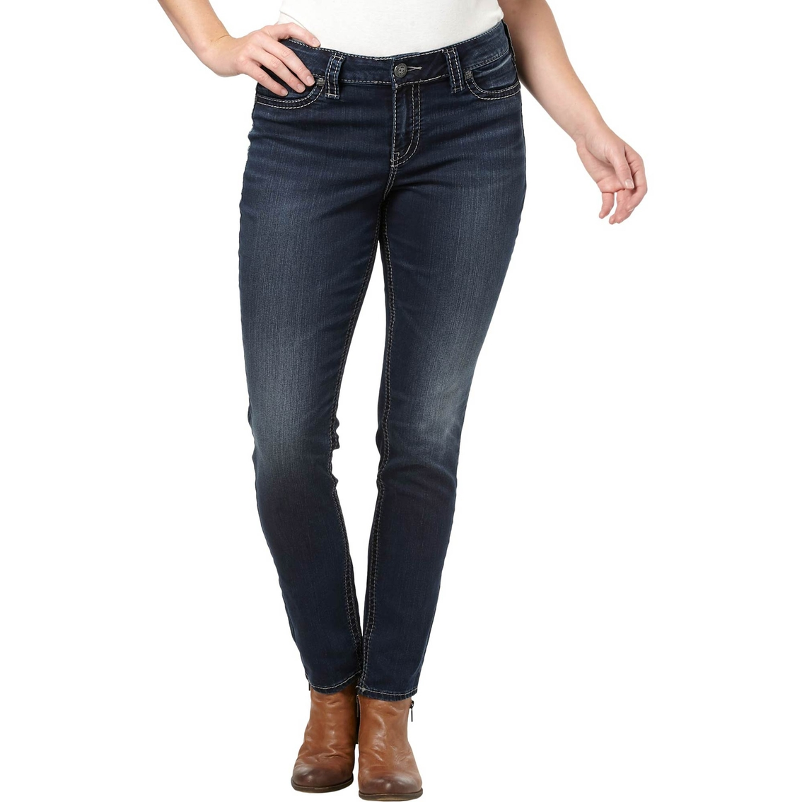 Silver Jeans Plus Size Suki Mid Super Skinny Jeans | Jeans ...