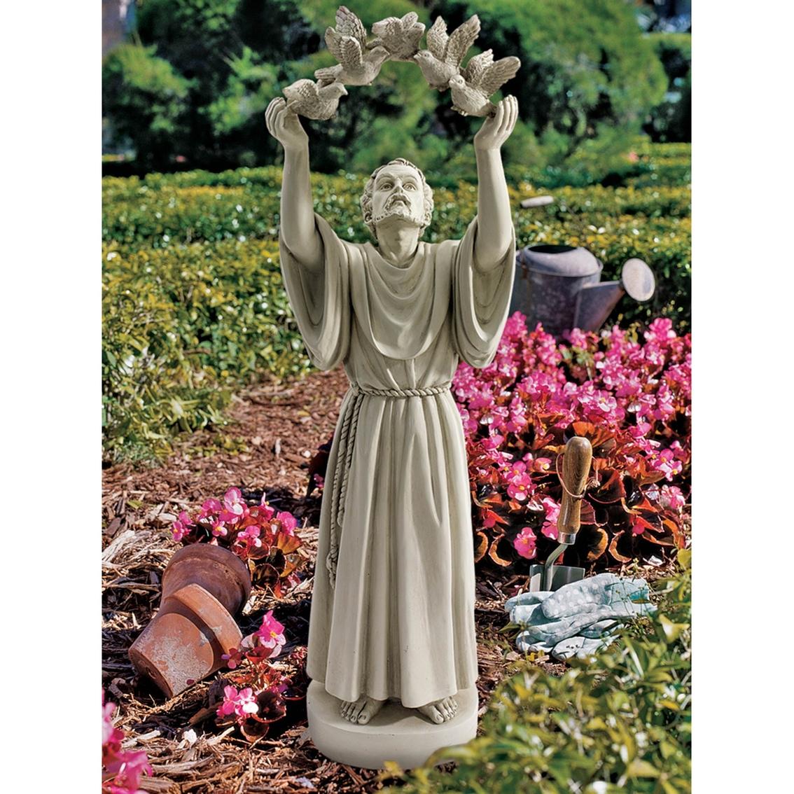 Design Toscano St. Francisu0027s Doves Of Peace Garden Statue