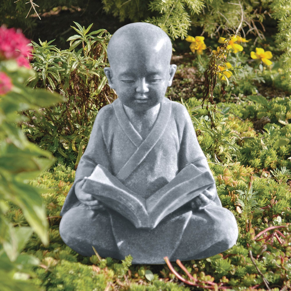 design toscano baby buddha studying statue sculptures more