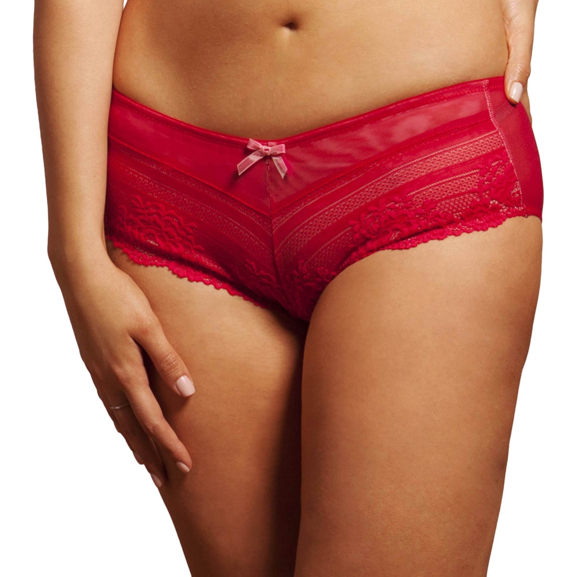 In recent years, boyshort panties have emerged from the back of men's underwear drawer to the forefront of women's lingerie. Designed to resemble a man's brief, the women's boy short panty features leg openings that cover the top portion of the thighs.