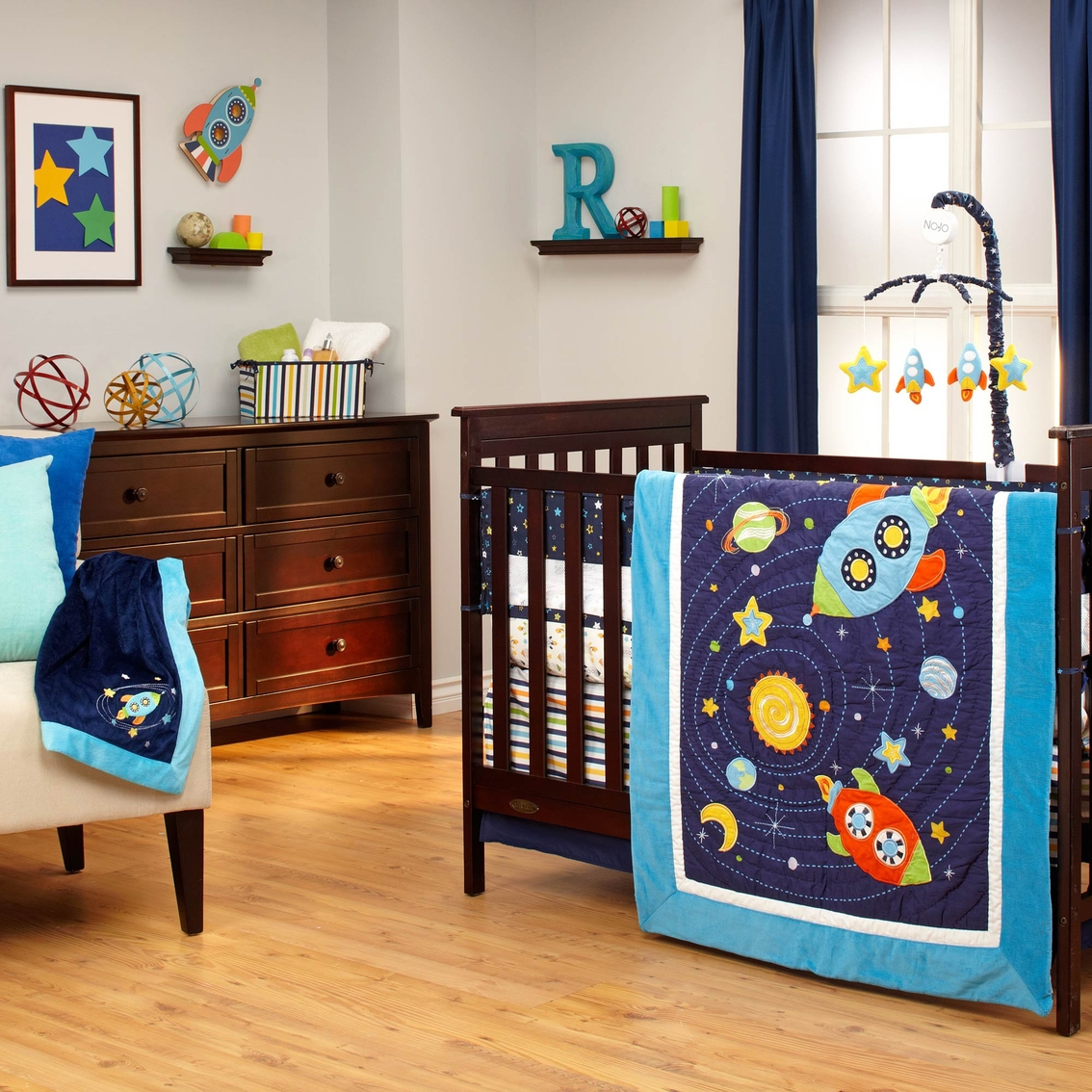 nojo out of this world 4 pc crib bedding set bedding