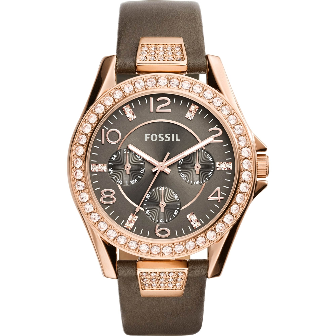 fossil s multifunction brown leather