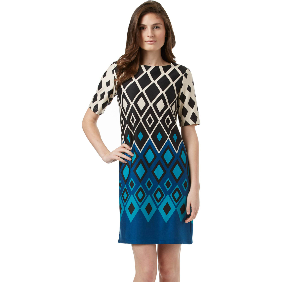 dc3465407a4 Danillo Boutique Diamond Print Dress. Item   7516435. Please correct the  errors highlighted below.
