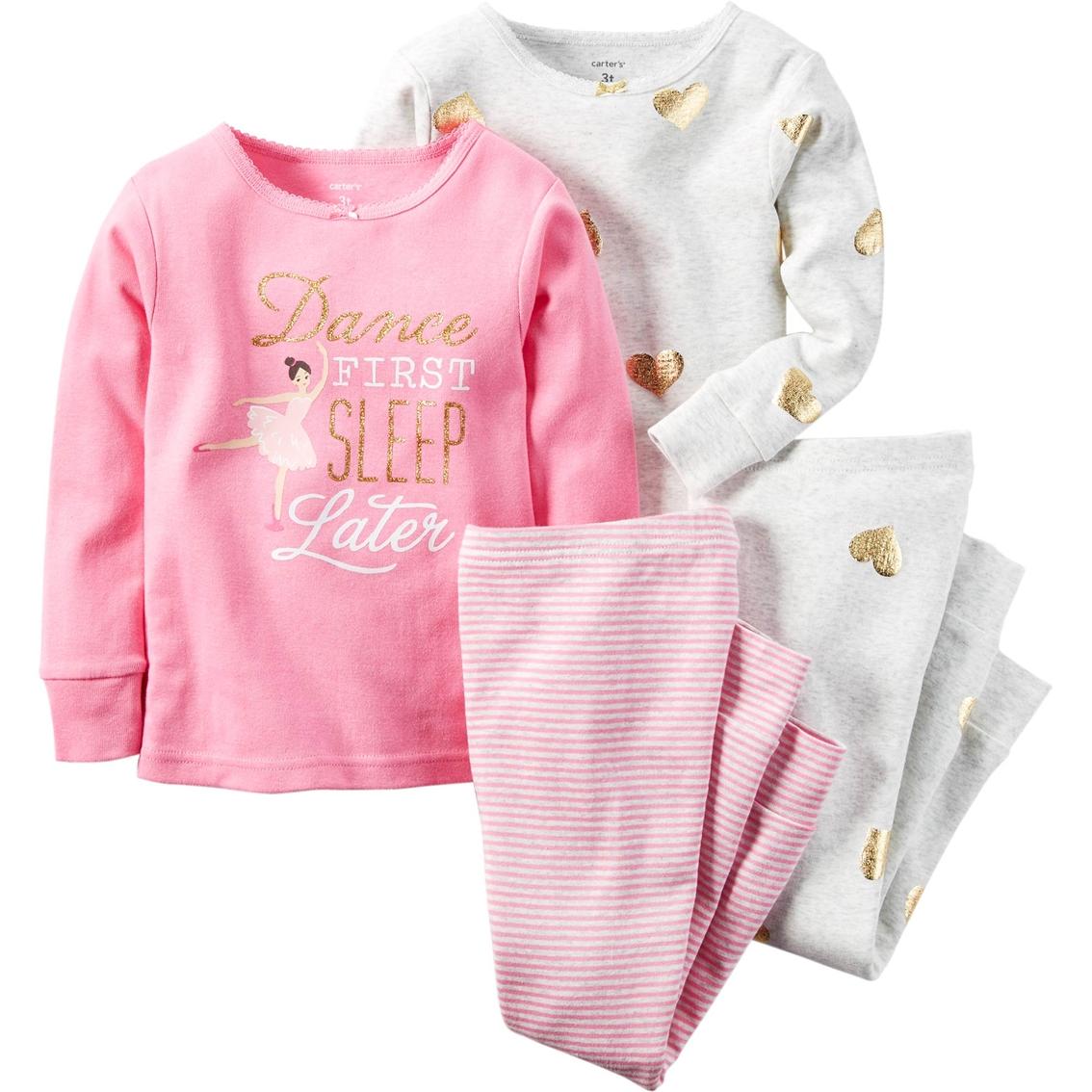 ba173e79e Carter s Little Girls girls 4 Pc. Pink Dance Heather Gold Heart ...